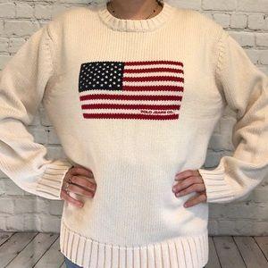 Vintage Polo Ralph Lauren Flag Sweater